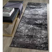 Black Runner Rug Black Area Rugs Vtg574g Couristan Recife Checkered Field Cocoa