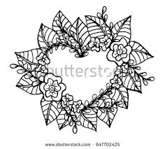 decorative love frame composition hearts flowers stock vector