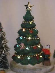 lighted christmas tree dickensville collectibles porcelain lighted christmas tree ebay