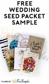 free wedding sles by mail free wedding seed packet sle yo free sles