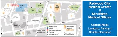 kaiser san jose facility map cus maps location parking shuttle information redwood city