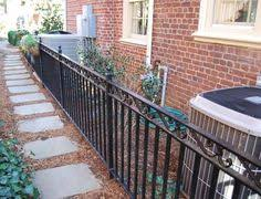 wrought iron deck railings search brick houses