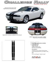 dodge challenger all models challenger rally vinyl graphics racing stripes kit 2008 2009