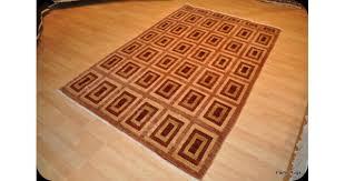 new handmade vegetable dyed rug gabbeh design beige u0026 maroon color