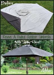 How To Spray Paint Patio Furniture How To Paint A Faded Outdoor Umbrella U0026 See How It Held Up
