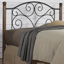 bed u0026 bedding bronze iron cal king bed frame with scroll accent