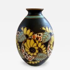 Deco Vase Artver Rare Art Deco Vase By Artver
