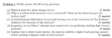 design criteria questions briefly answer the following questions name at le chegg com