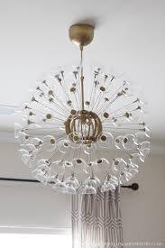 Ikea Flower Chandelier Bedroom Pretty Sputnik Light Fixture Atom Light Bulb With Brass