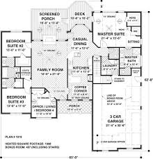 5 bedroom house plans with bonus room 4 bedroom 2 bath country house plan alp 023d allplans com