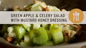 Celery Salad Green Apple And Celery Salad With Mustard Honey Dressing