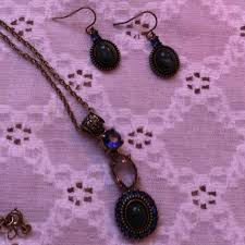 vintage necklace earrings images Nrt jewelry vintage stamped designed necklace earrings poshmark jpg