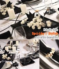 tricks and treats for a hip halloween themed bridal shower