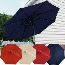 Tilting Patio Umbrella Sunnydaze Aluminum 9 Foot Solar Patio Umbrella With Tilt Crank