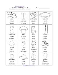 clothes worksheet printable pdf worksheet clothes diceesl kids