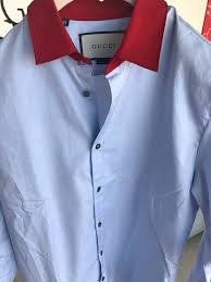 gucci red collar shirt size m shirts button ups for sale grailed
