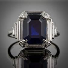 art deco sapphire ring vintage jewelry deco weddings