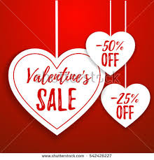 valentines sale valentines day sale offer banner template stock vector 542426227