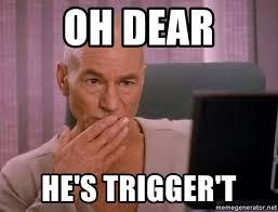 Meme Generator Picard - oh dear he s trigger t oh my picard meme generator