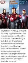civil homein war coming war home infinity webheads iron man phase