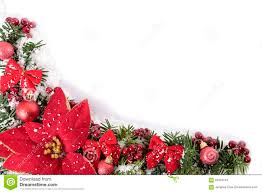 decorations corner border frame with poinsettia and