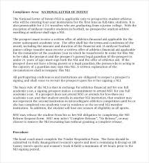 College National Letter Of Intent Simple Letter Of Intent Templates 18 Free Sle Exle