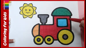 coloring pages kids color train coloring pages