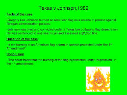 Is Flag Burning Protected By The First Amendment Landmark Supreme Court Cases Ppt Video Online Download