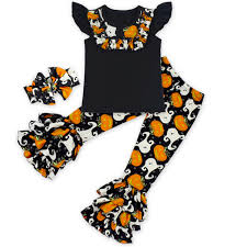 thanksgiving baby clothes ruffle 3pcs cotton back to