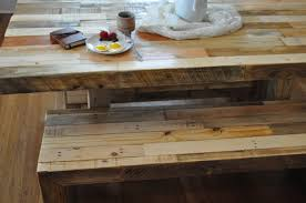 Reclaimed Round Dining Table by Dining Room Emmerson Dining Table Rustic Dining Room Bench