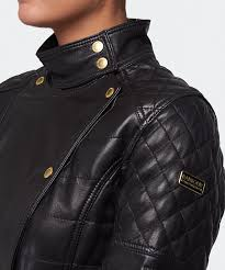 leather jacket black friday sale barbour april axel leather jacket in black lyst