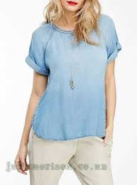 light blue top women s women s blouses light blue faded denim chambray blouse