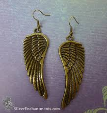 wing earrings large angel wing earrings angel jewelry
