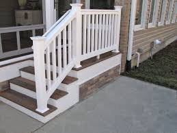 stair railings and banisters vinyl railings and banisters look attractive exterior stair