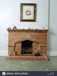 close up of old fashioned brick fireplace stock photo royalty