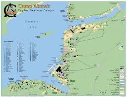 Ontario Canada Map Ahmek Camp For Boys Algonquin Park Camp Map