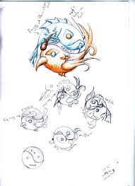 fire ice tattoo sketch 001 by nautical nieky on deviantart