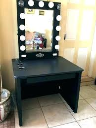 desk l light bulbs makeup table with mirror and lights mirror
