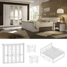 Schlafzimmer Komplett Jugend Schlafzimmer Luca Pinie Weiß Set Komplett 4tlg Günstig Möbel Kaufen