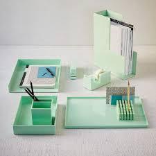 Green Desk Accessories Color Pop Office Accessories Mint West Elm