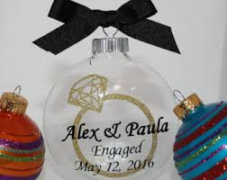 engagement gifts for couple engagement ornament rustic engaged