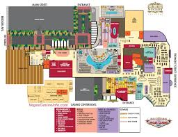 Map Of Las Vegas Strip by The Golden Nugget Casino Map