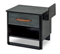 dark metal nightstand çilek