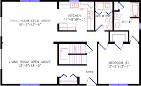 open floor plans with loft chalet