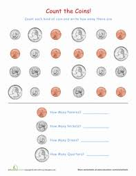 coin identification worksheet coin recognition worksheet education