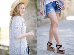 exploring ravello long cardigan boyfriend shorts u0026 wedge sandals