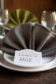 thanksgiving dinner napkins three diy thanksgiving place settings gift favor ideas from
