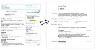 Linkedin Labs Resume Builder Linkedin Resume Template Gfyork Com