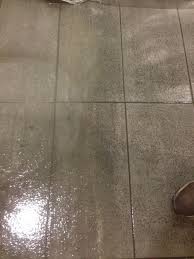 cleaning porcelain floor tiles at an nhs hospital in