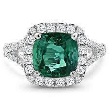 emerald gemstone rings images Izabel cushion cut split shank emerald ring platinum gemstone jpeg